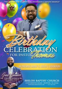 Pastor Thomas' Birthday 2019